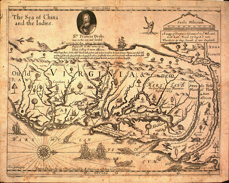 A Map Of Virginia Discovered To Ye Hills 1651 Ncpedia