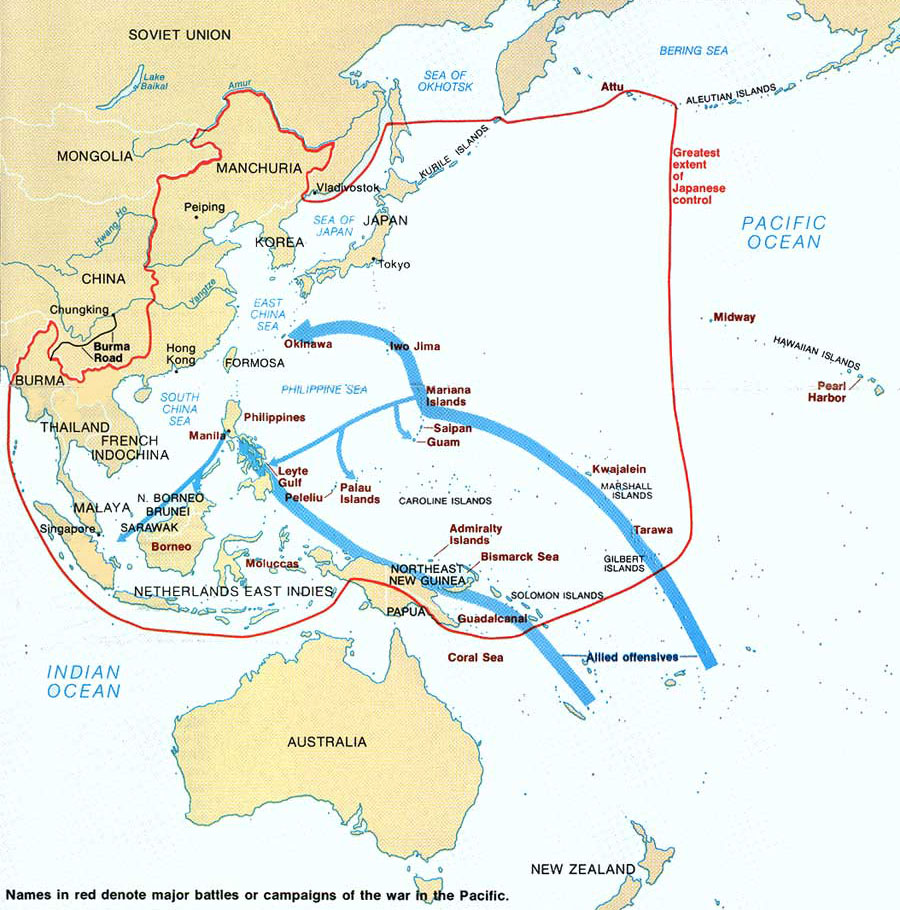 Map of world war ii in the pacific ncpedia gumiabroncs Images