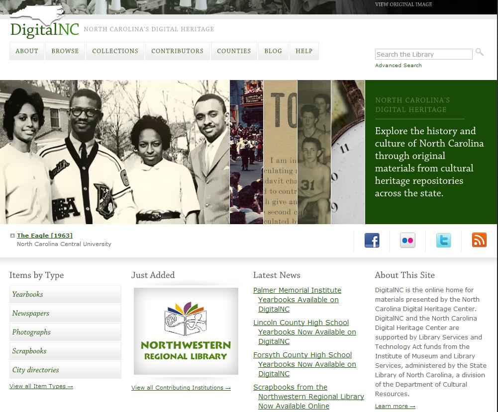 North Carolina Digital Heritage Center ← Library Development