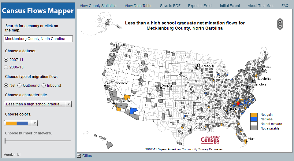 New data tool: Census Flows Mapper migration patterns for your